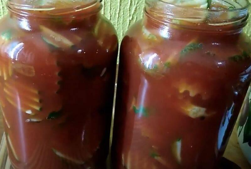 Огурцы в томатном соусе на зиму: обалденные рецепты
