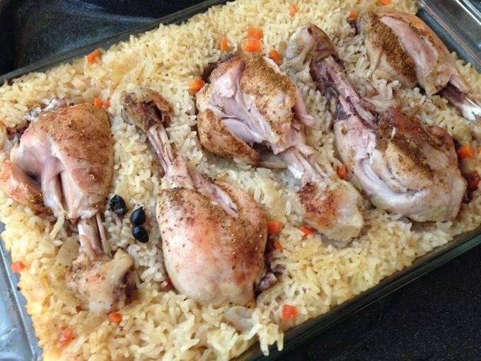 Как приготовить курицу с рисом в духовке по пошаговому рецепту с фото. ленивый рис с курицей в духовке