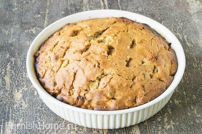 Яблочно-ореховый пирог