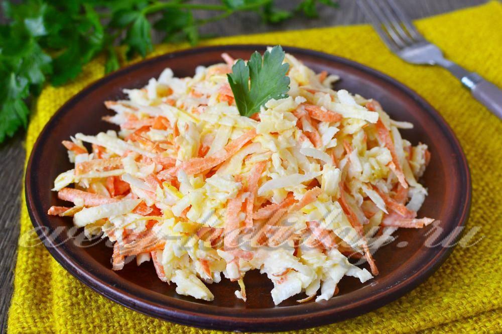 Салат из черной редьки: простые рецепты приготовления с фото