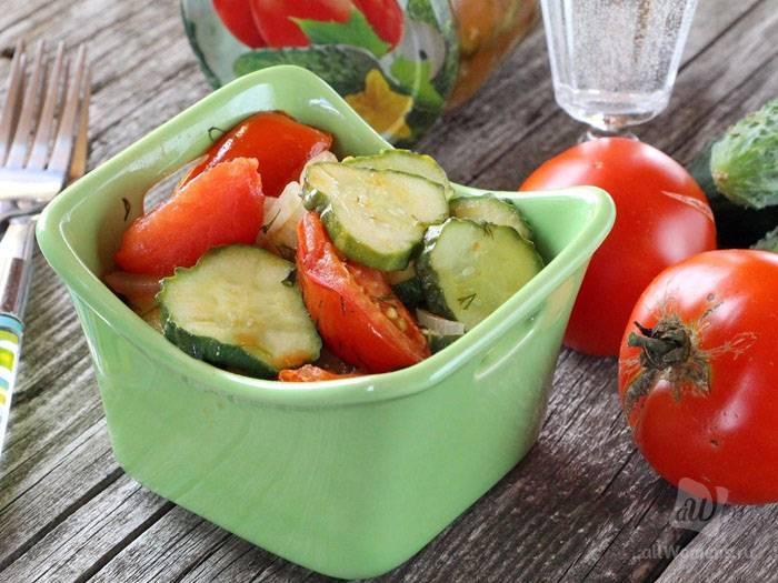 Салат из огурцов, капусты, помидоров на зиму – 8 самых вкусных рецептов с фото пошагово