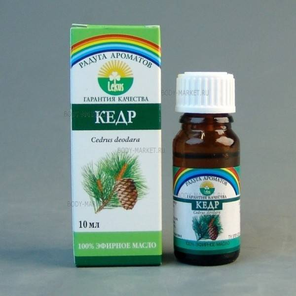 Эфирное масло кедра: свойства и применение
