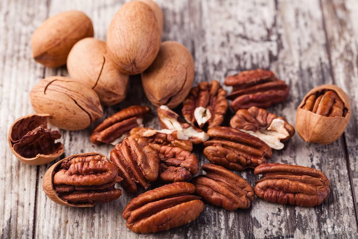 Полезные свойства ореха пекан — обзор состава, виды, применение в кулинарии и нормы потребления (100 фото)