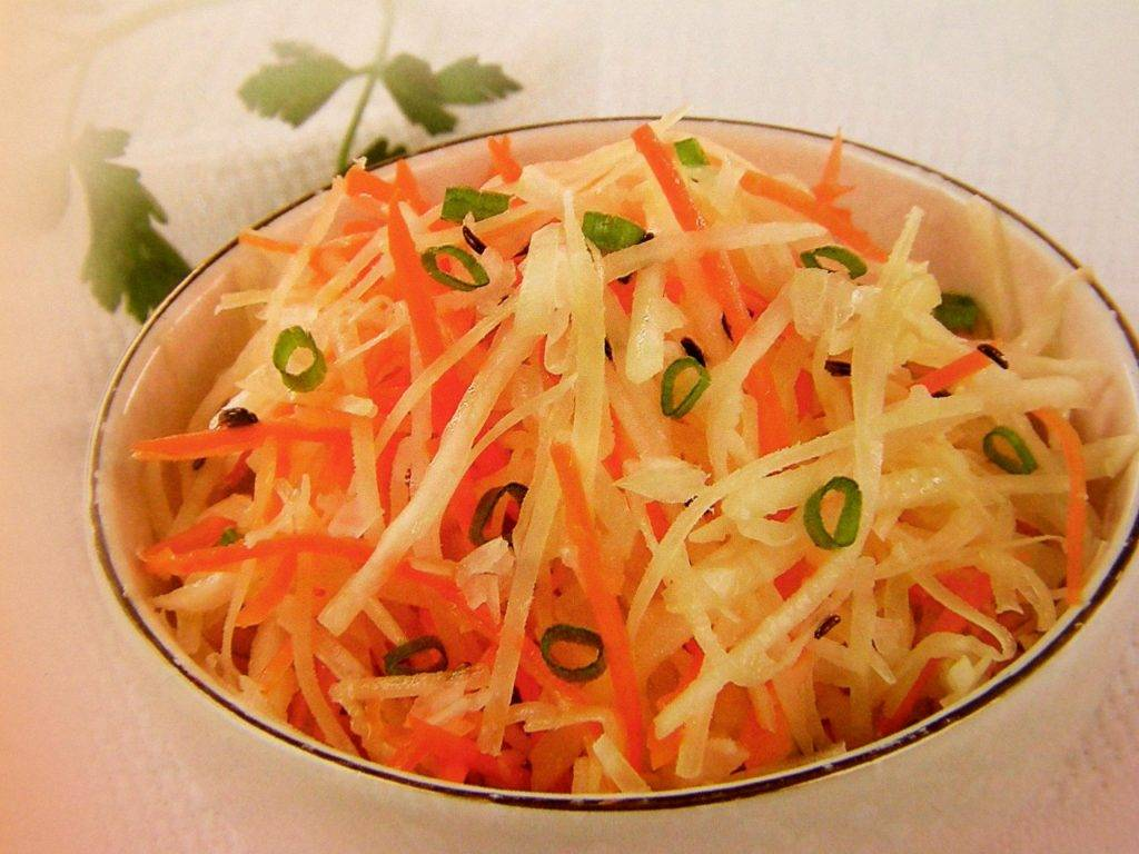 Салат из белой редьки - каждому по витамину: рецепт с фото и видео