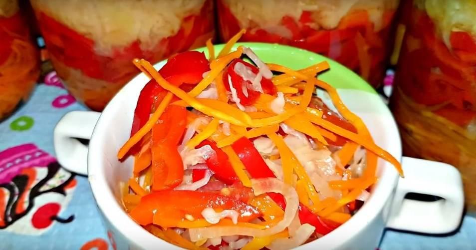 Капуста, маринованная с перцем и помидорами