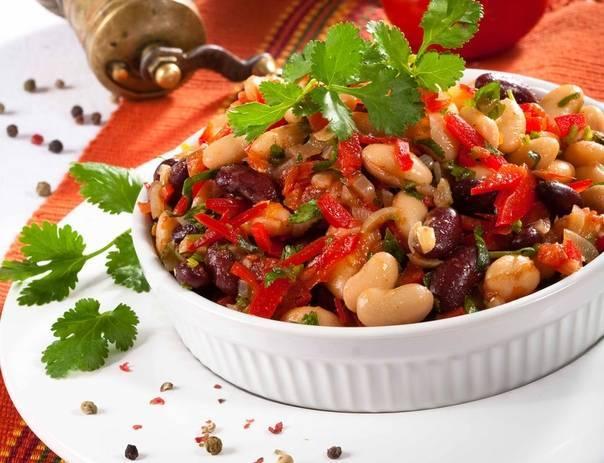 4 простых и вкусных рецепта салата с фасолью в томатном соусе - видео рецепты в домашних условиях