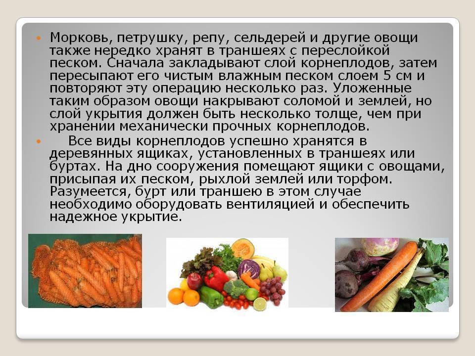 Хранение плодовых овощей