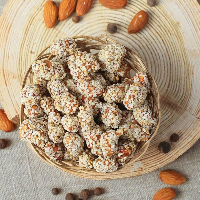 Арахис в кунжуте:калорийность, польза и вред, рецепты