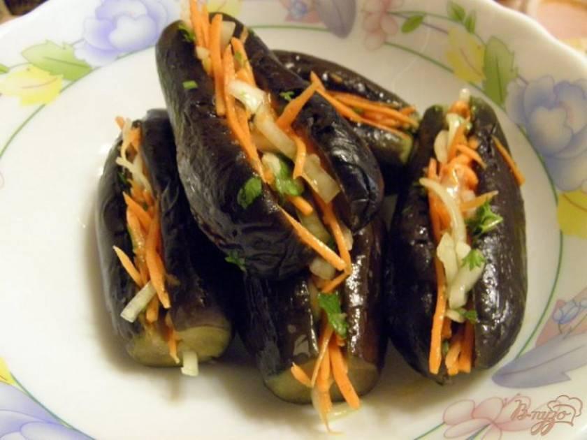 Баклажаны, фаршированные капустой и морковью на зиму. рецепты квашеных, соленых, маринованных, острых и пряных баклажан, фаршированных капустой