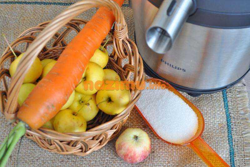 Кабачки, морковь и яблоки с медом, лимонником и яблочным соком «приговские»