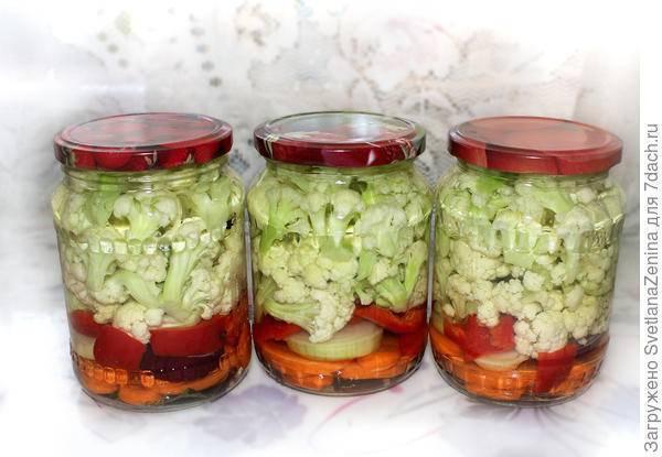 Цветная капуста на зиму — 10 пошаговых рецептов приготовления