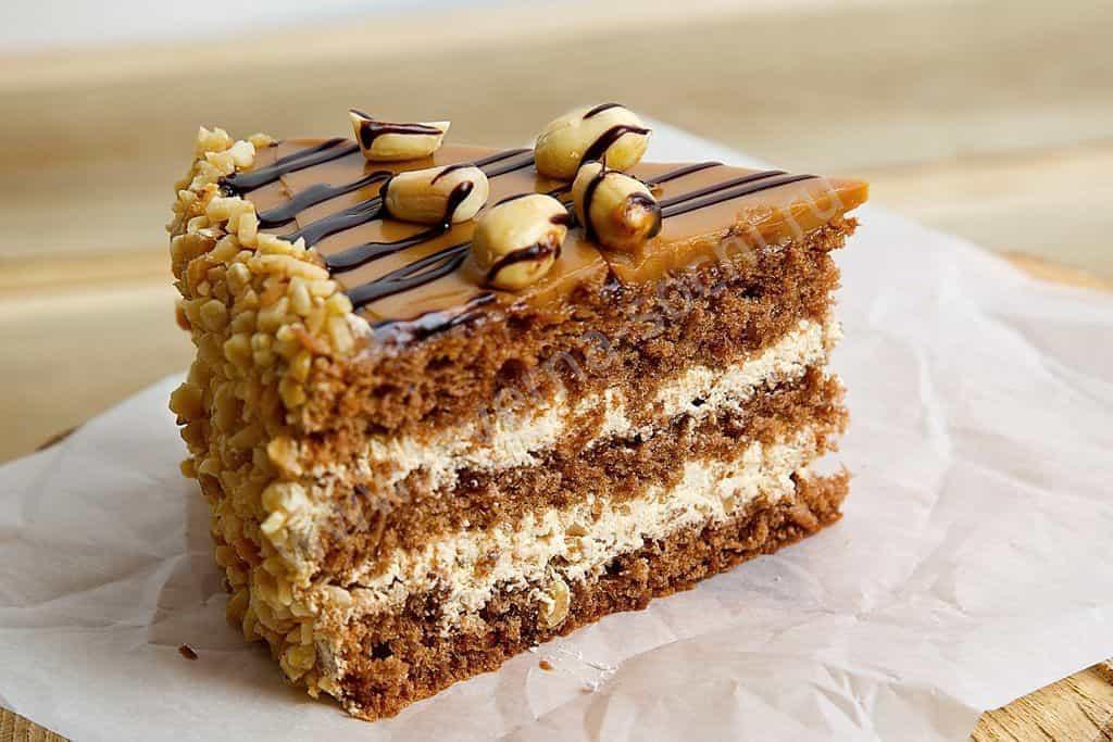 """Арахисовый торт """"коровка"""" – кулинарный рецепт"""