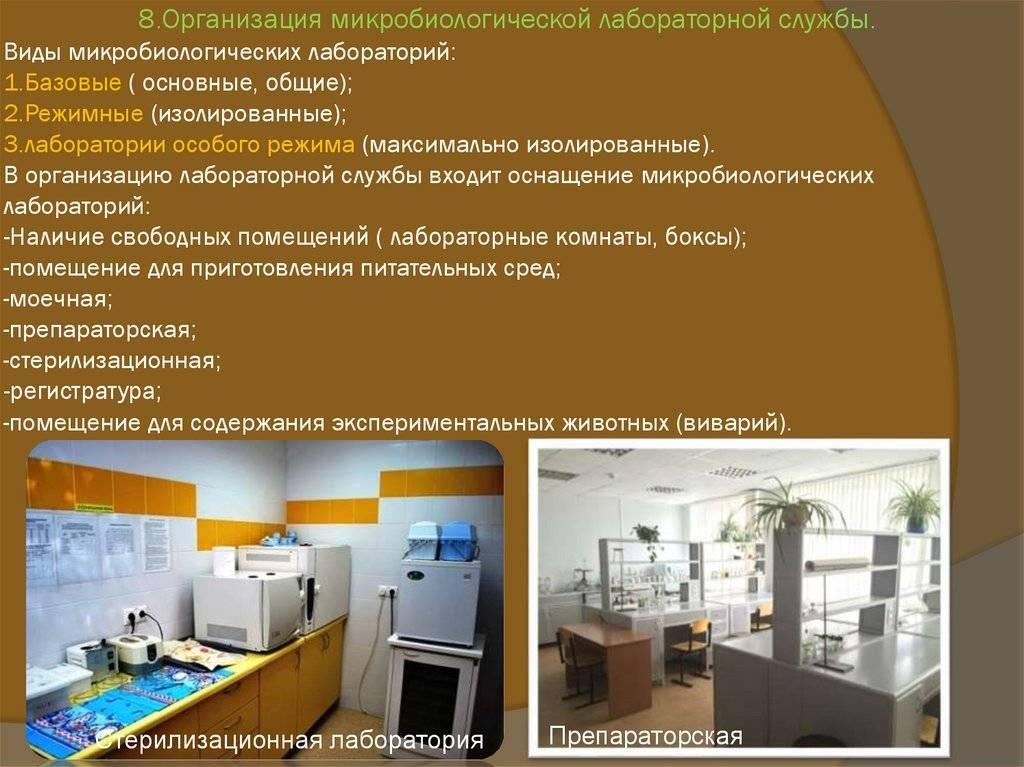 Оснащение микробиологической лаборатории