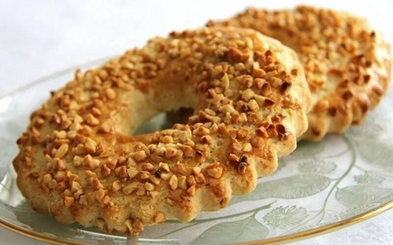 Песочные кольца с орехами. пошаговый рецепт с фото