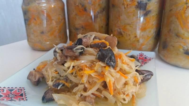Грибная солянка с капустой на зиму: топ-4 рецептов