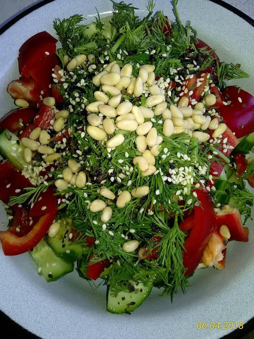 Салат с кедровыми орешками - это вкусно и просто! рецепт с фото и видео