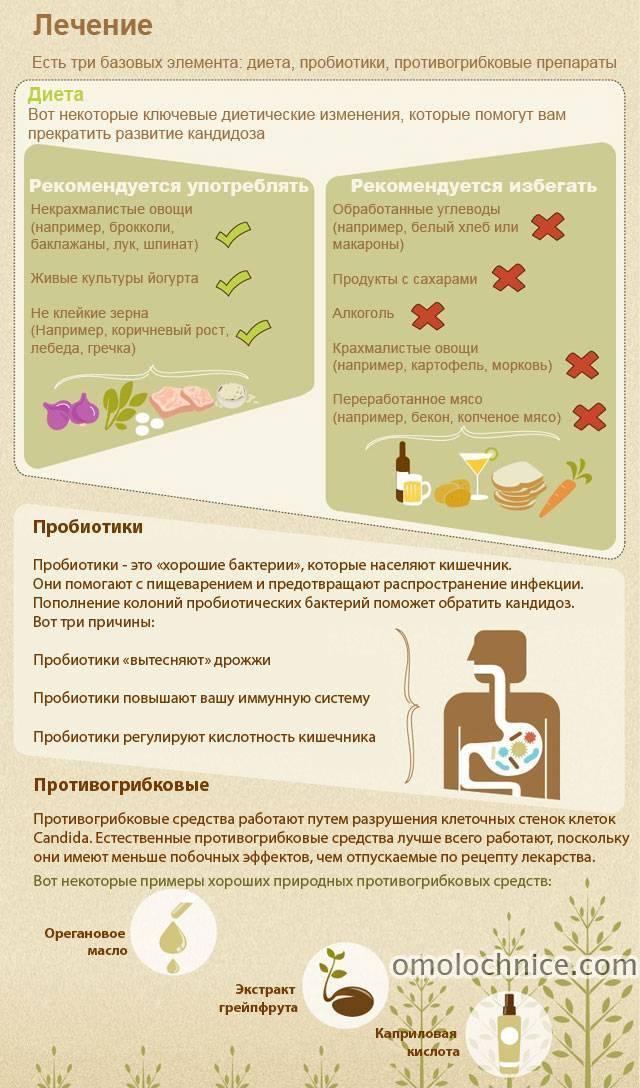 Диета при кандидозе - запрещенные и разрешенные продукты, противогрибковый рацион питания