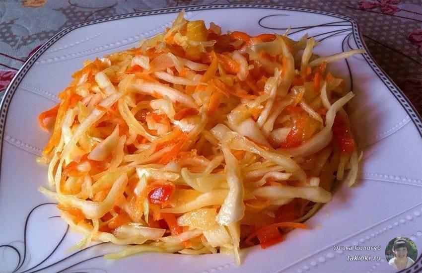 Салаты из капусты на зиму в банке: очень вкусные рецепты