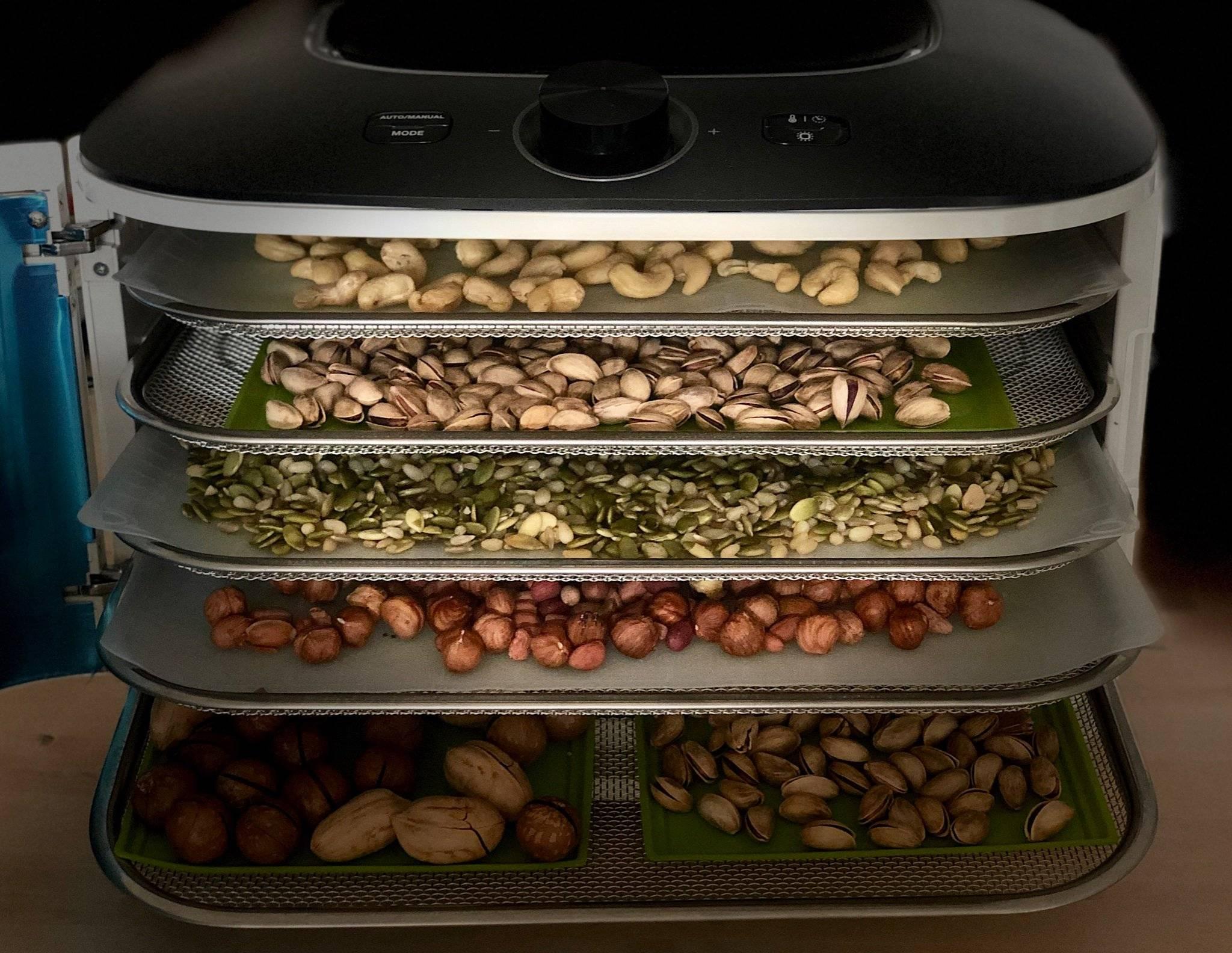 Как правильно сушить орехи?