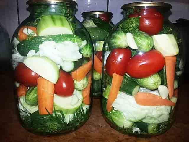 Овощное ассорти на зиму: рецепты. овощное ассорти: заготовки на зиму без стерилизации