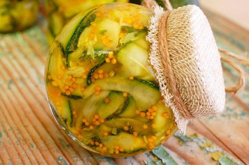 Салат из кабачков нежность на зиму рецепт