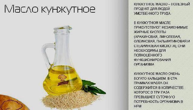 Кунжутное масло: полезные свойства и противопоказания, как принимать, польза и вред для женщин, мужчин, волос, кожи
