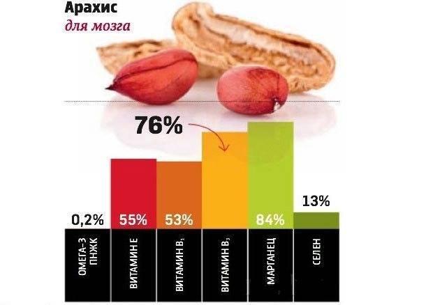 Арахис — химический состав, пищевая ценность, бжу