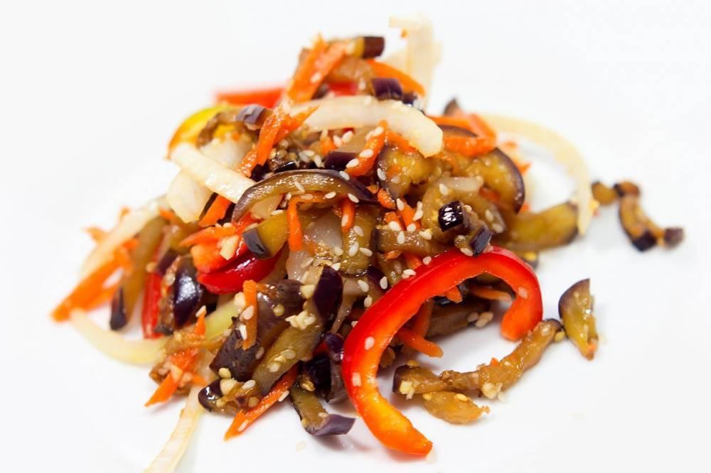 Баклажаны по-корейски быстрого приготовления