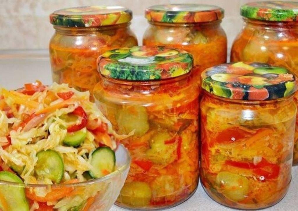 Салат «кубанский» с капустой на зиму – 3 вкусных рецепта с фото