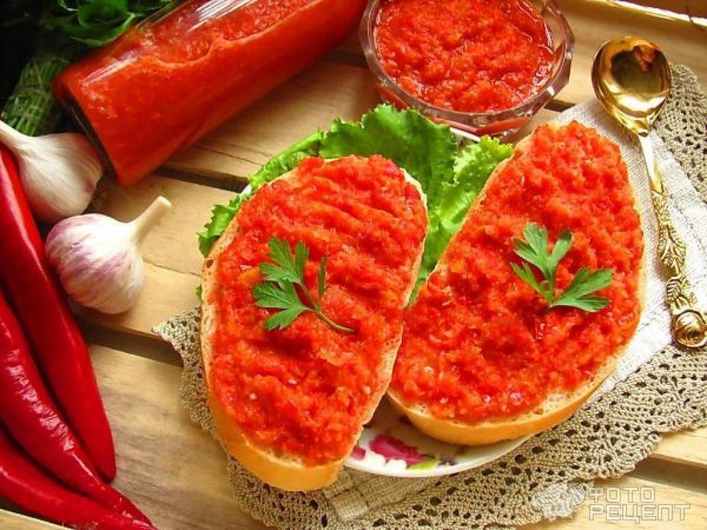 Огонек из помидор, чеснока и острого перца на зиму: надежные рецепты
