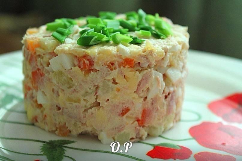 Салат с консервой рыбной – восхитительный вкус: рецепт с фото и видео