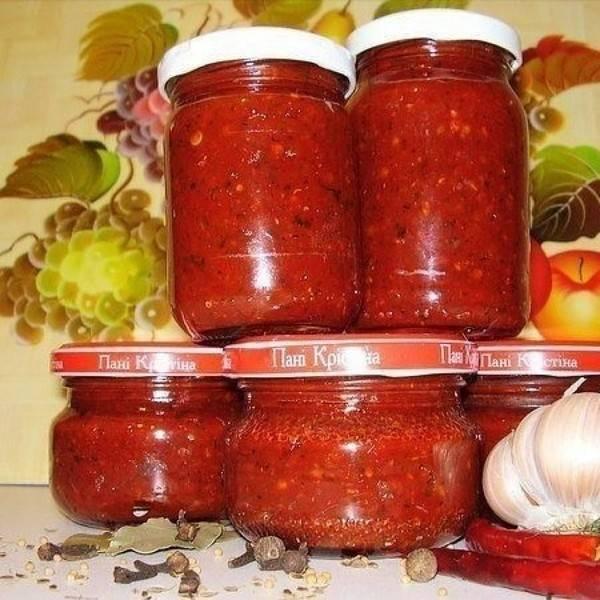 Огонек из помидор и острого перца на зиму