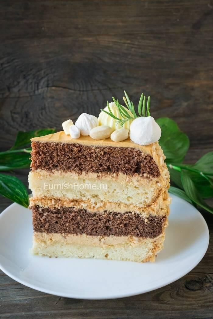 Шоколадный торт с солёным арахисом – кулинарный рецепт
