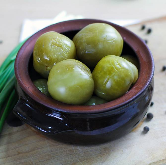 Соление зеленых помидоров простые рецепты