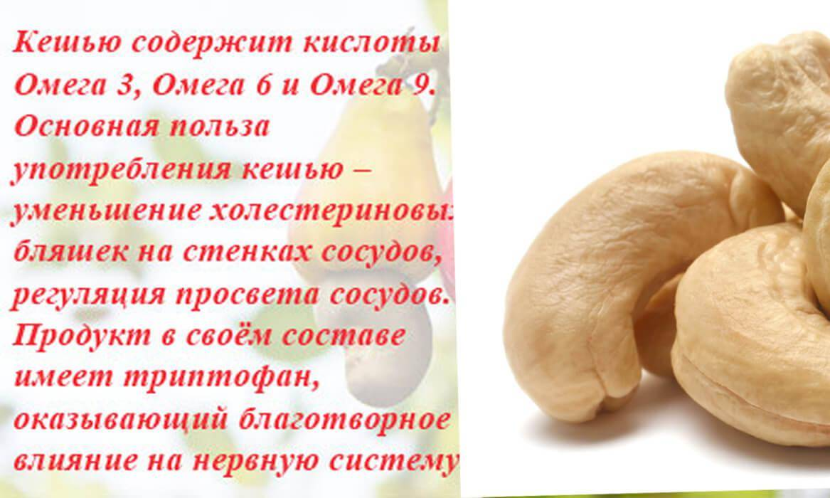 Орехи кешью полезные свойства и противопоказания