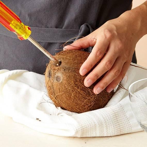 Как есть кокос в домашних условиях
