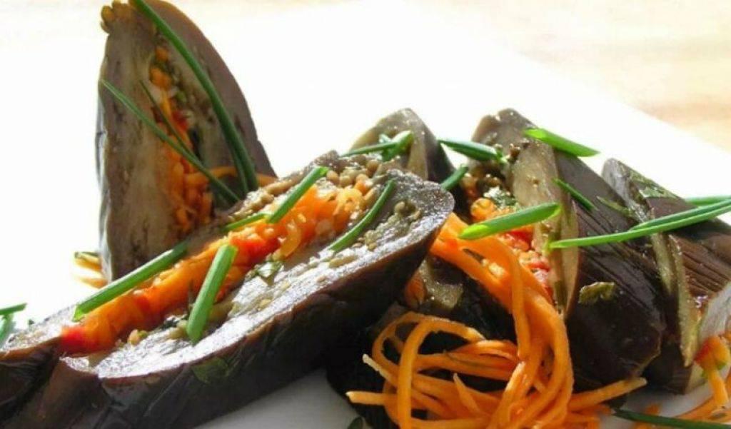 Квашеные баклажаны: лучшие быстрые рецепты фаршированных морковью, чесноком и зеленью в кастрюле на зиму, с капустой и сельдереем, соленые овощи, фото русский фермер