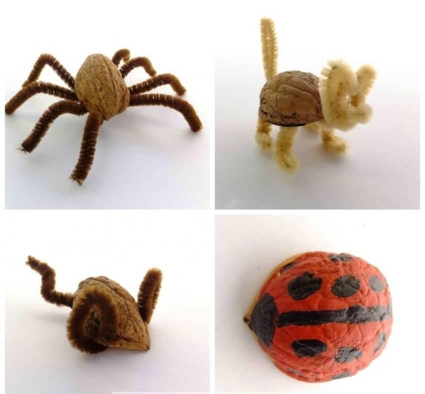 Поделки из скорлупы грецкого ореха: фото и видео как смастерить детскую игрушку или украшение из скорлупы
