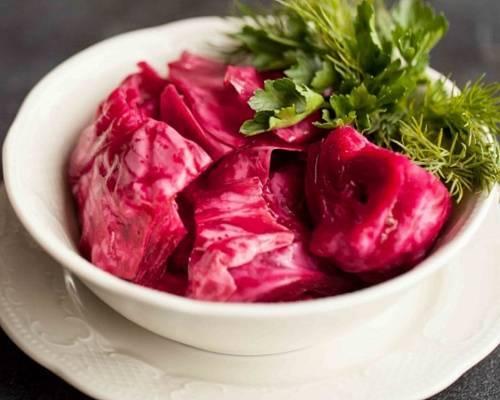 Маринованная капуста со свеклой быстрого приготовления: рецепты с фото