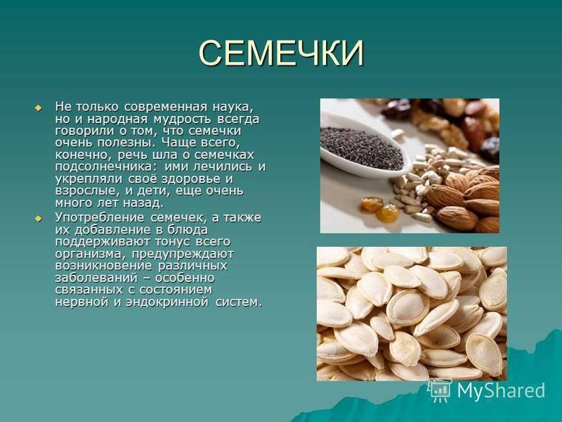 Семечки подсолнуха: вред и польза сырых и жареных семян, калорийность, полезные свойства для женщин, мужчин и детей / mama66.ru