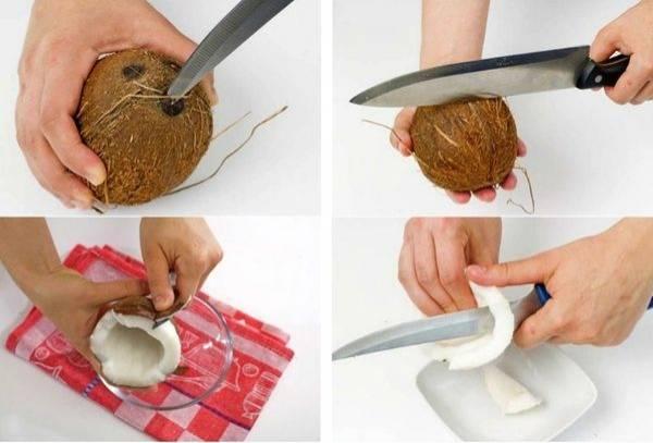 Как открыть, вскрыть, расколоть, разбить кокос в домашних условиях и что с ним делать, как почистить и есть, видео