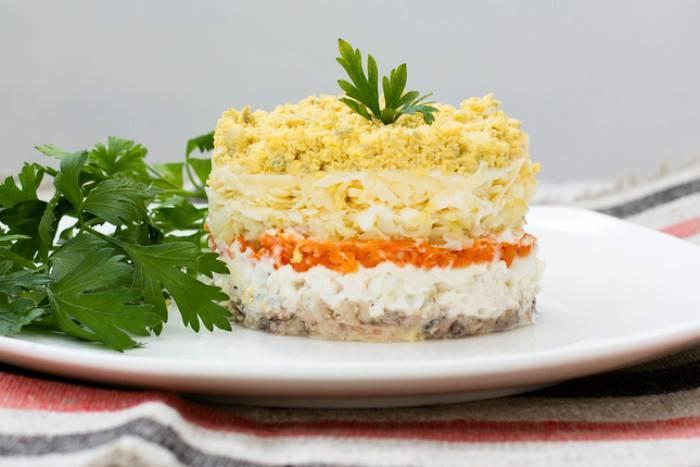 Салат из рыбных консервов, быстрые и вкусные рецепты салатов с рыбой и яйцом