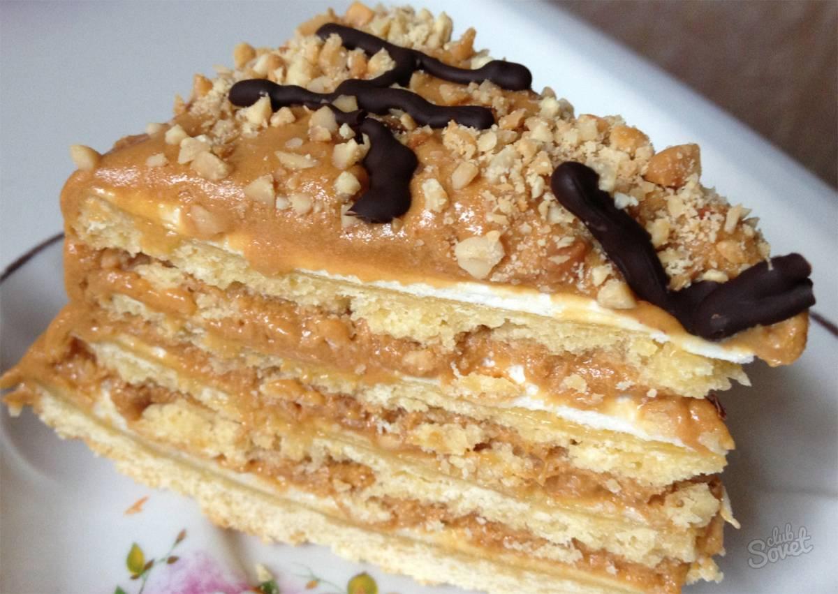 Арахисовый торт с заварным кремом – пошаговый рецепт с фото приготовления