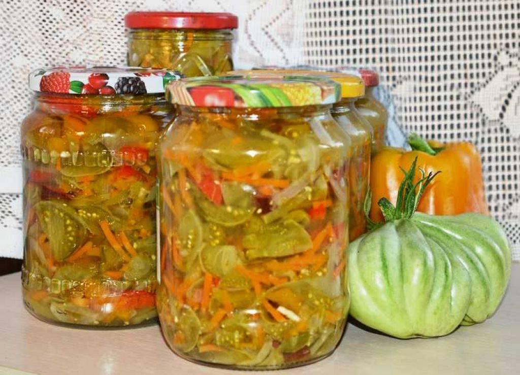 Салат из зеленых помидоров на зиму - 10 рецептов в банках с пошаговыми фото