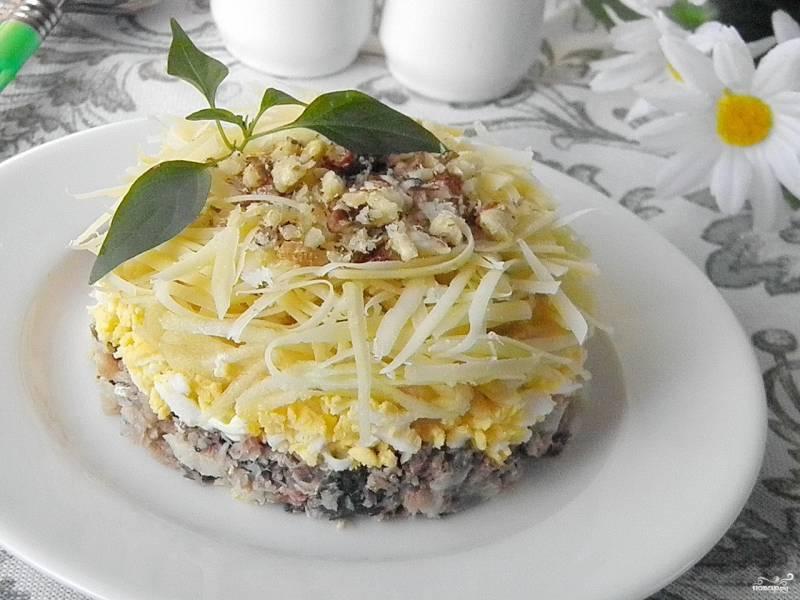 Рыбный салат из консервов с картошкой рецепт