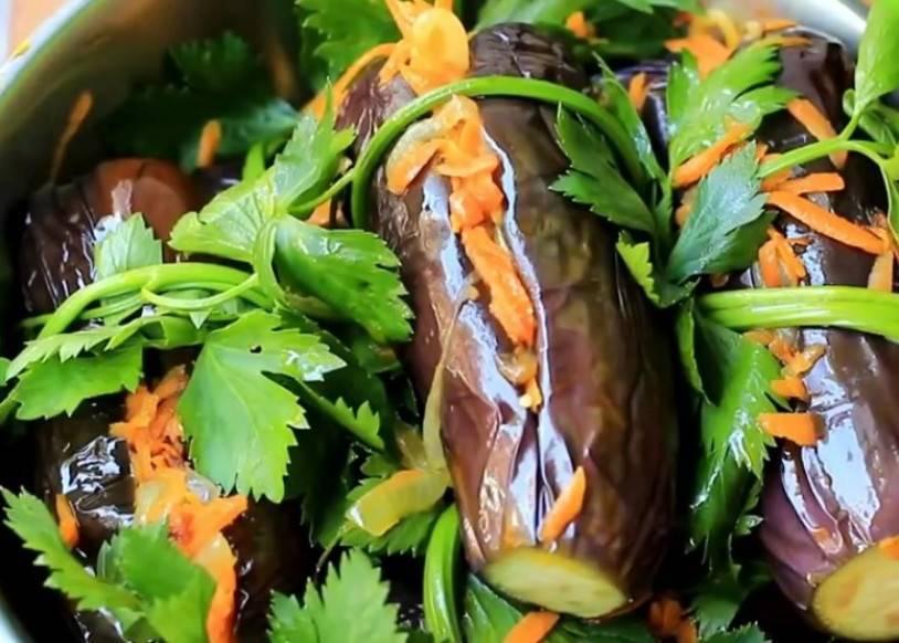Баклажаны, фаршированные капустой и морковью на зиму. рецепты квашеных, соленых, маринованных, острых и пряных баклажан, фаршированных капустой - автор екатерина данилова - журнал женское мнение