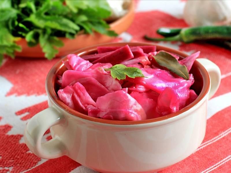 Квашеная капуста быстрого приготовления со свеклой: очень вкусные домашние рецепты