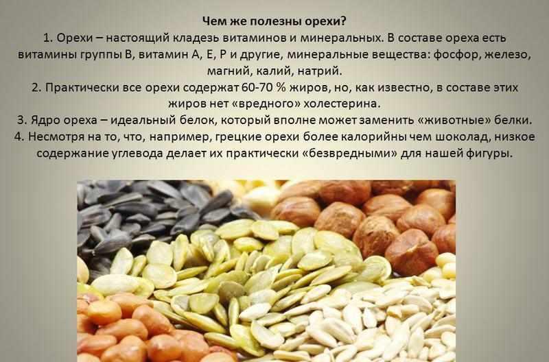 Орехи при запоре
