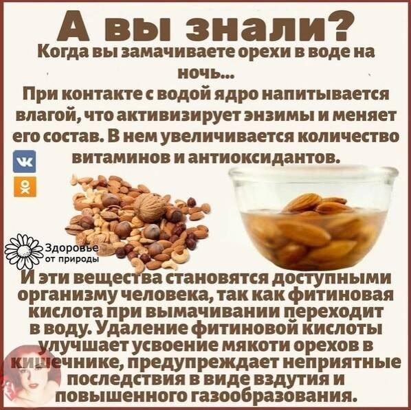 Зачем замачивать орехи и как правильно это делать
