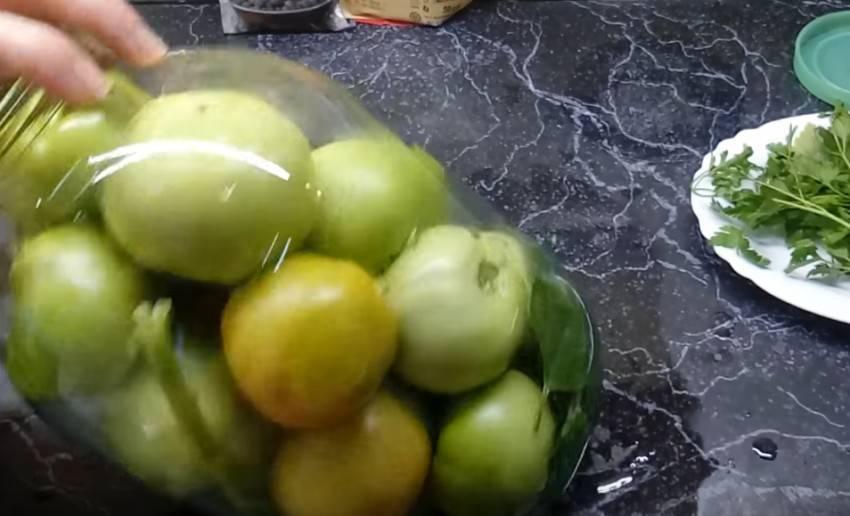 Зеленые помидоры соленые холодным способом или горячим в банке, ведре или кастрюле